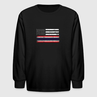 Thai American Flag - USA Thailand Shirt - Kids' Long Sleeve T-Shirt