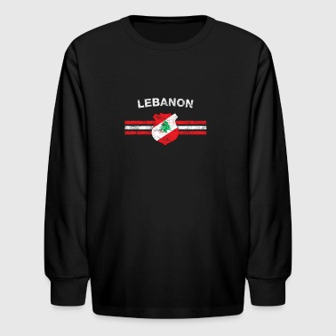 Lebanese Flag Shirt - Lebanese Emblem & Lebanon Fl - Kids' Long Sleeve T-Shirt