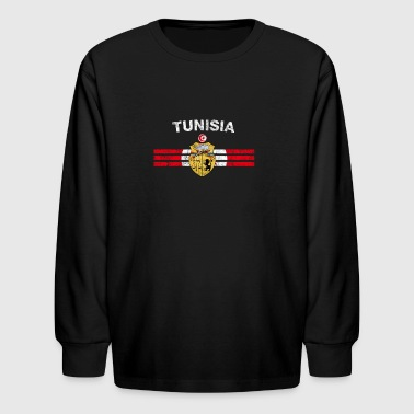 Tunisian Flag Shirt - Tunisian Emblem & Tunisia Fl - Kids' Long Sleeve T-Shirt