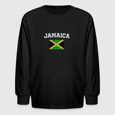 Jamaican Flag Shirt - Vintage Jamaica T-Shirt - Kids' Long Sleeve T-Shirt