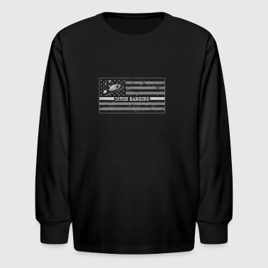 Snowmobile Outfit Shirt Ditch Banging Snowmobile Flag - Kids' Long Sleeve T-Shirt