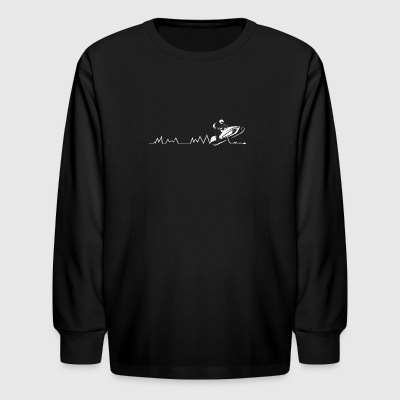 Mountain Snowmobile Shirt Snowmobile Heartbeat - Kids' Long Sleeve T-Shirt