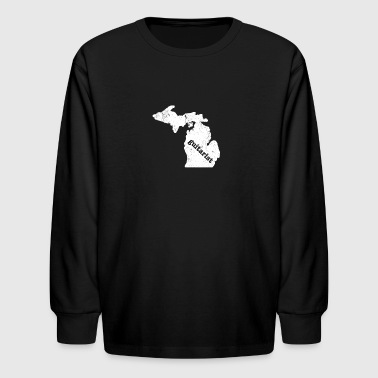Electric Guitar Shirt Michigan T Shirt Best Blues Guitar Shirt - Kids' Long Sleeve T-Shirt