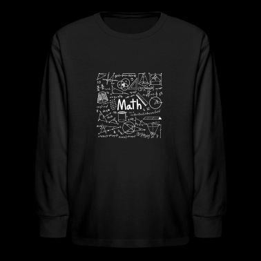 Math College Nerd Mathematic Formula - Kids' Long Sleeve T-Shirt