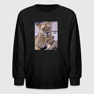 Momma Lion - Kids' Long Sleeve T-Shirt