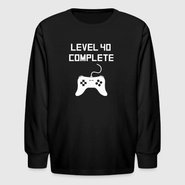 Level 40 Complete - Kids' Long Sleeve T-Shirt