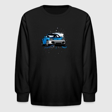 Blue_porsche_911 - Kids' Long Sleeve T-Shirt
