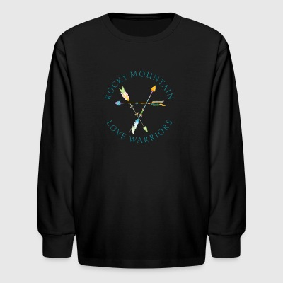 Rocky Mountain Love Warriors - Whites and Greys - Kids' Long Sleeve T-Shirt
