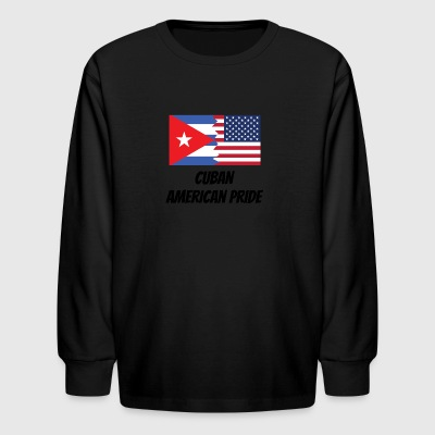 Cuban American Pride - Kids' Long Sleeve T-Shirt