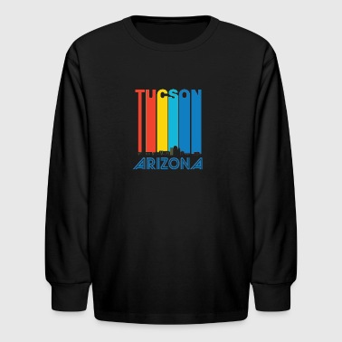 Retro Tucson Arizona Skyline - Kids' Long Sleeve T-Shirt