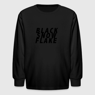 #blacksnowflake - Kids' Long Sleeve T-Shirt
