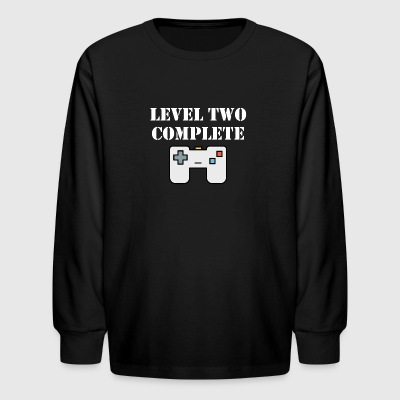 Level Two Complete Second Birthday - Kids' Long Sleeve T-Shirt