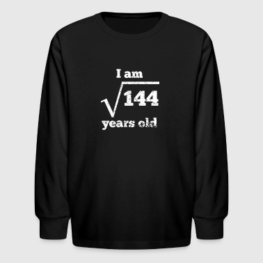 12th Birthday Square Root - Kids' Long Sleeve T-Shirt