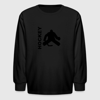 Hockey Goalie Silhouette - Kids' Long Sleeve T-Shirt