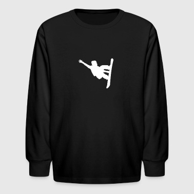 Snowboarder Silhouette Snowboarding - Kids' Long Sleeve T-Shirt