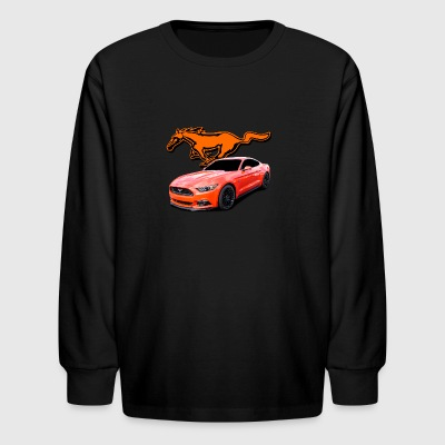 mustang orange - Kids' Long Sleeve T-Shirt