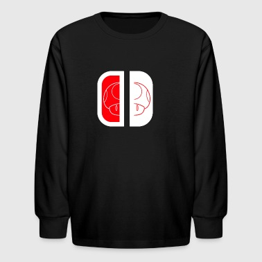Nintendo Switch Mario Shroom - Kids' Long Sleeve T-Shirt