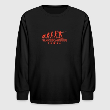 Retro Wakeboarding Evolution - Kids' Long Sleeve T-Shirt