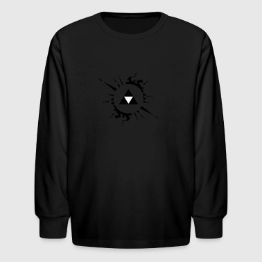 The legend of zelda Triforce vectorized - Kids' Long Sleeve T-Shirt