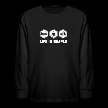 LIFE IS SIMPLE - SCOOTER SHIRT FOR WOMEN | MEN - Kids' Long Sleeve T-Shirt