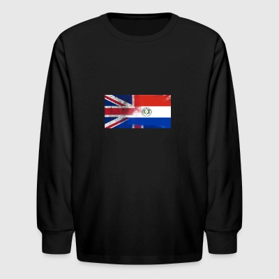 British Paraguayan Half Paraguay Half UK Flag - Kids' Long Sleeve T-Shirt