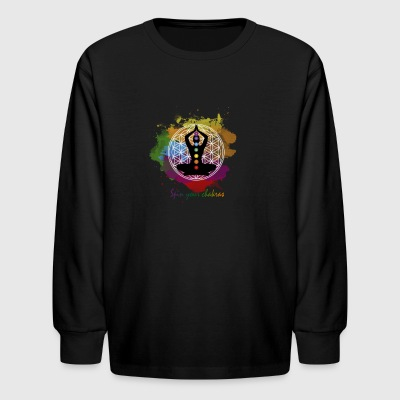 SPIN YOUR CHAKRAS - Kids' Long Sleeve T-Shirt