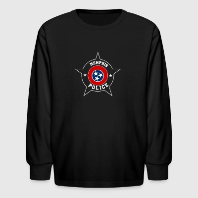 Memphis Police T Shirt - Tennesee flag - Kids' Long Sleeve T-Shirt