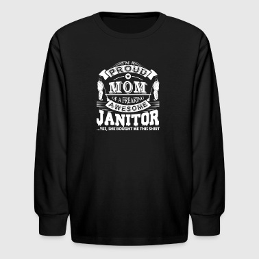 Proud Mom Of Awesome Janitor Shirt - Kids' Long Sleeve T-Shirt