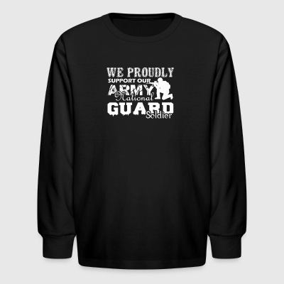 Army National Guard Soldier Shirt - Kids' Long Sleeve T-Shirt