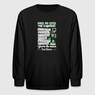 When You Enter This Classroom Chemistry T Shirt - Kids' Long Sleeve T-Shirt