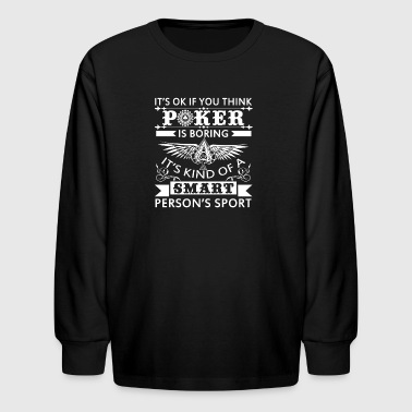 Poker Shirt - Kids' Long Sleeve T-Shirt