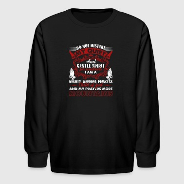 Christian Prayer Shirt - Kids' Long Sleeve T-Shirt