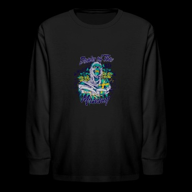 down of the mummy skull - Kids' Long Sleeve T-Shirt