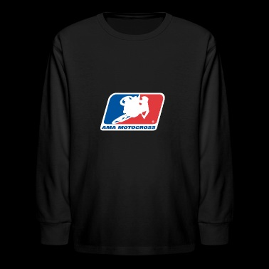 AMA MOTOCROSS LOGO - Kids' Long Sleeve T-Shirt