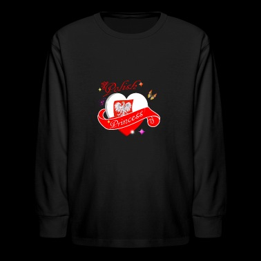 Polish Princess designs - Kids' Long Sleeve T-Shirt