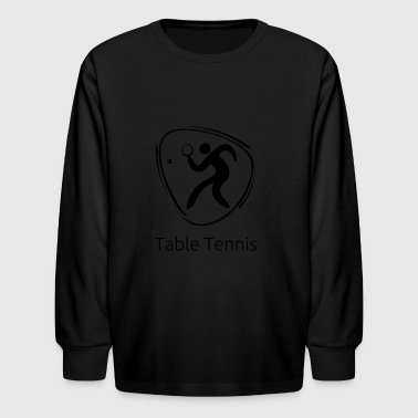 Table_tennis_black - Kids' Long Sleeve T-Shirt