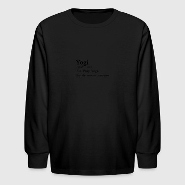 Yogi Definition - Kids' Long Sleeve T-Shirt
