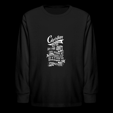 Christian Living Forgiving - Kids' Long Sleeve T-Shirt