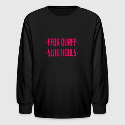 + SEND NUDES PINK + / hidden message - Kids' Long Sleeve T-Shirt