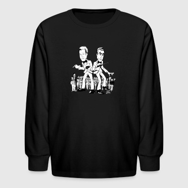Gwiz Art Moore & Connery 007 Tribute - Kids' Long Sleeve T-Shirt