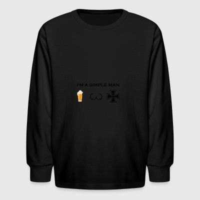 simple man boobs bier beer titten iron cross eiser - Kids' Long Sleeve T-Shirt
