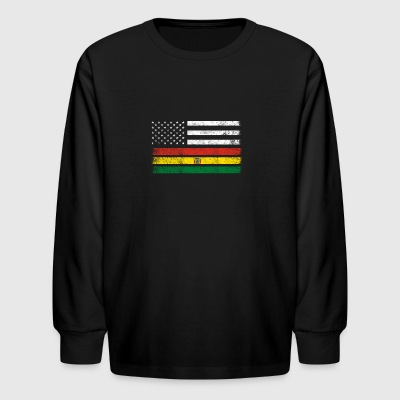 Bolivian American Flag - USA Bolivia Shirt - Kids' Long Sleeve T-Shirt