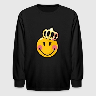 SmileyWorld Happy Queen - Kids' Long Sleeve T-Shirt