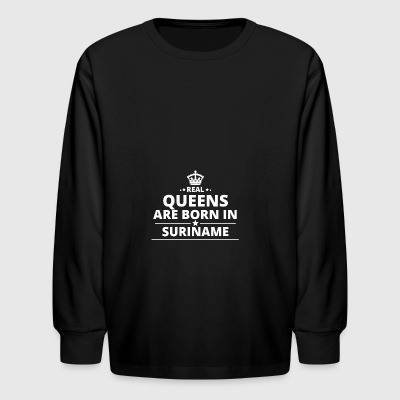 LOVE GESCHENK queens born in SURINAME - Kids' Long Sleeve T-Shirt