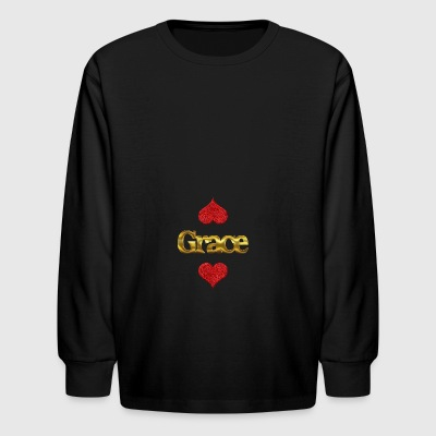 Grace - Kids' Long Sleeve T-Shirt