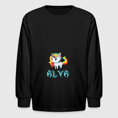Alva Unicorn - Kids' Long Sleeve T-Shirt