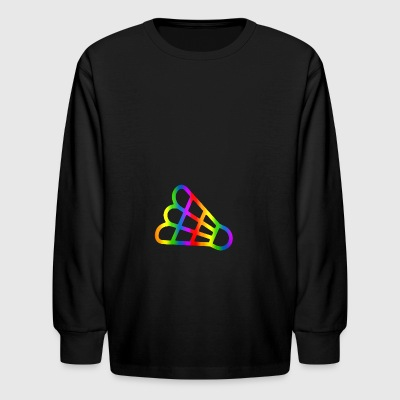 Colorful Badminton Rainbow - Kids' Long Sleeve T-Shirt