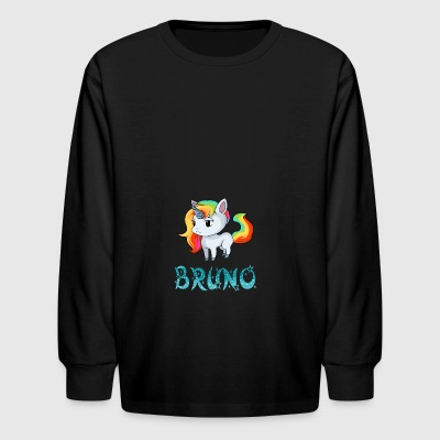 Bruno Unicorn - Kids' Long Sleeve T-Shirt