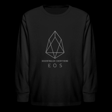 EOS Logo - Decentralize Everything 2 - Kids' Long Sleeve T-Shirt