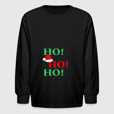 Ho Ho Ho Santa Christmas - Kids' Long Sleeve T-Shirt